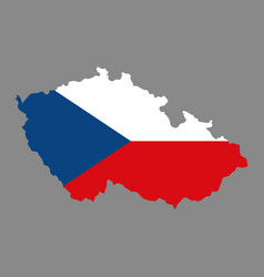 silhouette country borders map of czech republic vector image