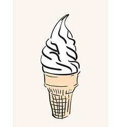 Sketch of icecream vector