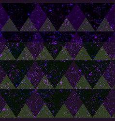 Space triangle seamless pattern with grunge effect vector