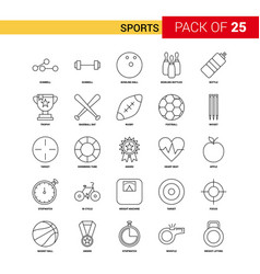 Sports black line icon - 25 business outline icon vector