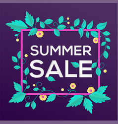 summer sale - modern colorful vector image