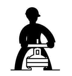 Technician working vector image