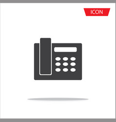 telephone icon isolated on white background vector image