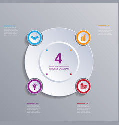 template modern infographic for 4 options vector image