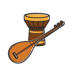 Traditional music instruments vector