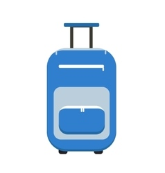 Travel Suitcase icon flat style on wheels vector image