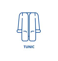 tunic line icon concept tunic flat symbol vector image