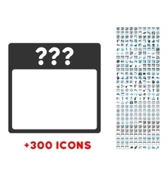 Unknown Date Icon vector