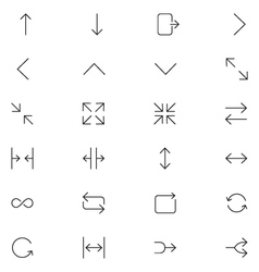 User interface icons 24 vector