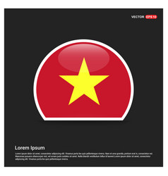 vietnam flag design vector image
