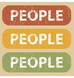 Vintage PEOPLE stamp set vector