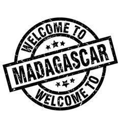 welcome to madagascar black stamp vector image