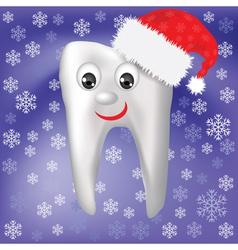 Winter tooth vector