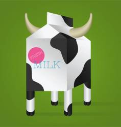 milk box with horns vector image vector image