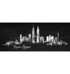 Silhouette chalk Kuala Lumpur vector image vector image