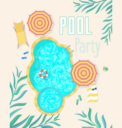 summer pool party invitation posters card vector image vector image