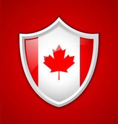 Canadian shield icon vector image vector image