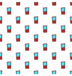 Door with glass pattern cartoon style vector image vector image