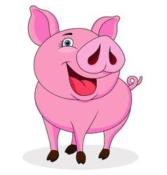 Funny pig cartoon vector image vector image