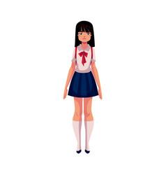 japanese teenage schoolgirl in typical uniform vector image