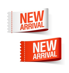new arrival labels vector image vector image