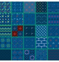 Set of hanger pattern on dark background vector