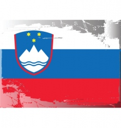 slovenia national flag vector image vector image