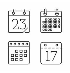 Calendar Line Icons vector image vector image