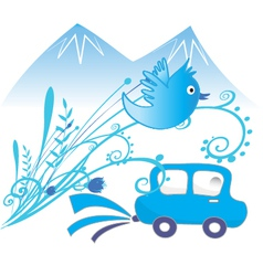 Car ecological and pure air background vector image vector image