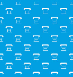 Large format inkjet printer pattern seamless blue vector