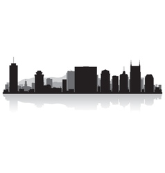 Nashville USA city skyline silhouette vector image vector image