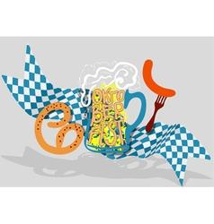 Oktoberfest background vector image vector image