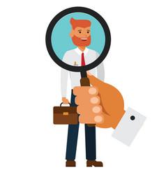 recruitment hiring concept cartoon flat vector image