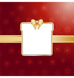 Red christmas present background and border vector image
