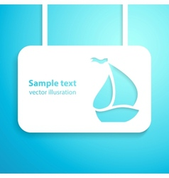 Sail boat applique background vector image