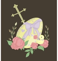 big Easter egg vector image vector image