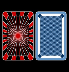 Cards playing vector