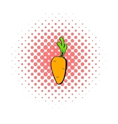 Carrot icon comics style vector image vector image