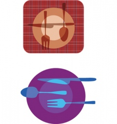 cutlery patterns vector image vector image