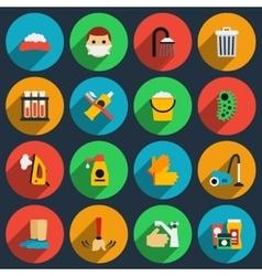 Hygiene and sanitation flat icons set vector image vector image