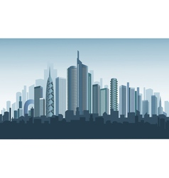panorama of modern city vector image vector image