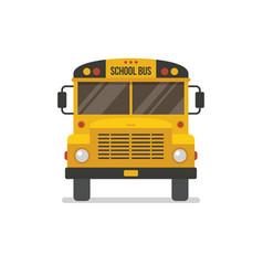 school bus front view vector image vector image