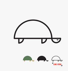 turtle flat icon vector image vector image