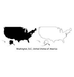 1190 washington dc united states america vector image