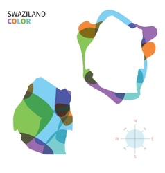 Abstract color map of Swaziland vector