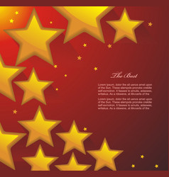 abstract colorful background with 3d glass stars vector image