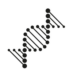 abstract dna strand symbol biotech icons modern vector image