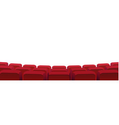 Armchairs rear view in cinema theater seats row vector