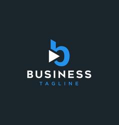 b with arrow logo design inspiration vector image