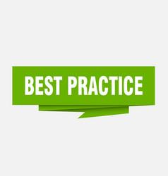 Best practice vector